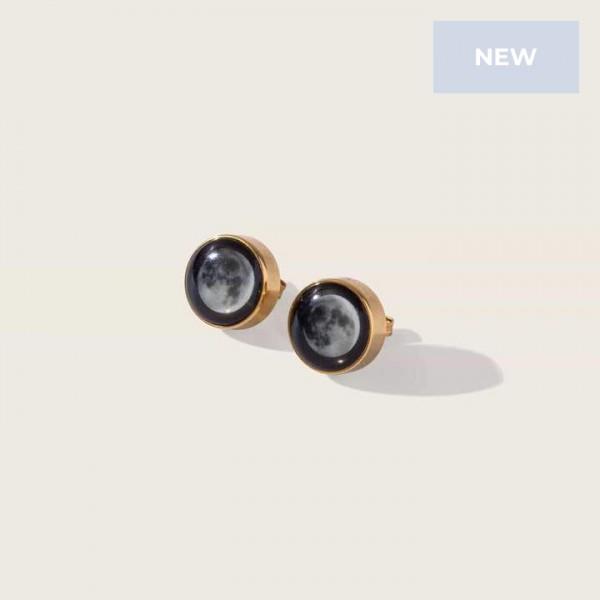 Moonshine Stud Earrings in Gold