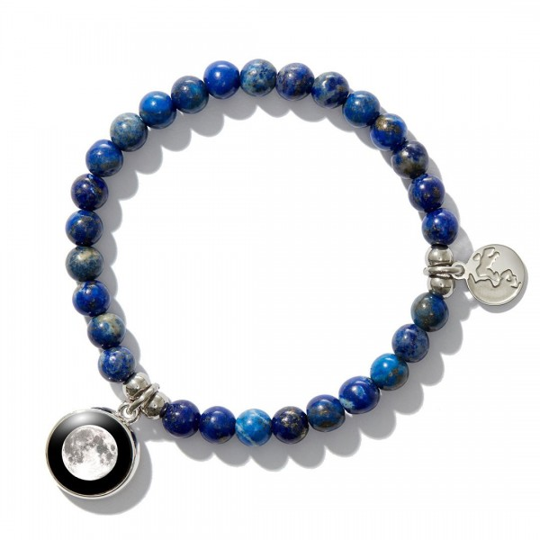 Dark blue beaded bracelet (여성용)